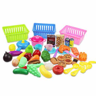 儿童过家家厨房玩具套装 水果蔬菜点心女孩玩具益智宝宝玩具1-3岁