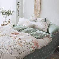 北欧床上四件套棉1.8m被套床单床笠小清新田园风纯棉单人三件套