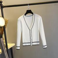 新款春秋针织衫开衫女短款薄空调衫毛衣宽松夏季上衣外套大码外搭