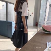 韩国ins超火包 斜跨可爱湿纸巾小包 便携 女学生港风撞色双面小包 黑色 (当天发货)