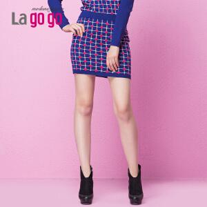 lagogo拉谷谷冬季新款时尚半身裙