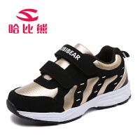 哈比熊童鞋男童休闲鞋春秋新款时尚女童中大童儿童运动鞋子潮