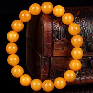 蜜蜡满蜡圆珠手串 直径10mm