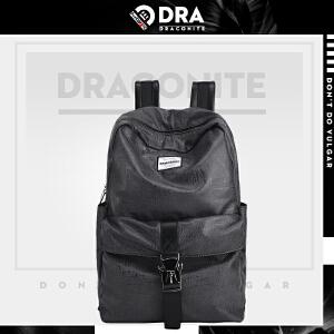 【支持礼品卡支付】DRACONITE欧美时尚复古潮流大容量双肩包男女潮牌背包书包11160A