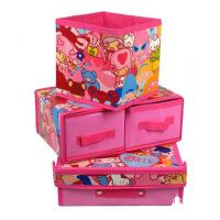 迷你组合三件套(1层2抽屉收纳盒+储物箱+储物桶)开心乐园系列