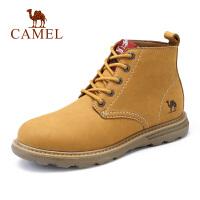 camel骆驼男鞋 秋季新款高帮时尚工装靴厚底防滑磨砂工装靴子男