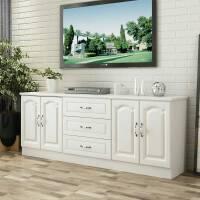 实木电视柜简约小户型白色储物柜组合地柜高款卧室电视柜现代简约 组装
