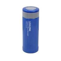 不锈钢竹节杯保温杯杯子瓶便携水杯水杯户外茶杯女士便携杯子便携水杯学生杯350ML 蓝色