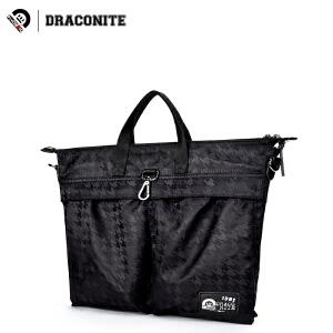 DRACONITE时尚斜纹布潮牌双肩包男女多功能单肩斜挎手提包