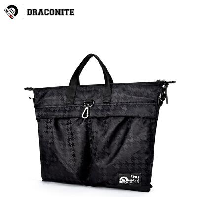 DRACONITE时尚斜纹布潮牌双肩包男女多功能单肩斜挎手提包手提双肩皆可,多功能背包