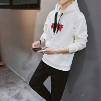 男士休闲装套装春秋季连帽卫衣2018新款青少年一套帅气衣服两件套DJ-8027