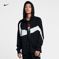Nike耐克2019年新款男外套大logo潮流休闲连帽运动夹克AR3085-010