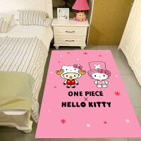 儿童房卡通地毯地垫可爱Kitty猫卡通地毯儿童房卧室床边地毯公主宝宝爬行垫飘窗榻榻米毯 乳白色 25颜色以图案为准