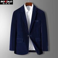 2件3折 含羊毛 中长款格纹毛呢大衣外套男士 潮流格子帅气呢子呢料韩版修身中年老年冬季男装 伯克龙SJZ808