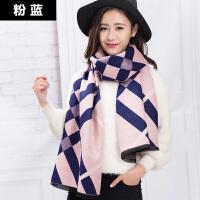 围巾女冬季韩版百搭冬天长款加厚仿羊绒披肩保暖女学生可爱围脖