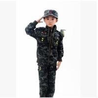儿童秋季迷彩服套装男童装纯棉加绒加厚军装外套孩子特种兵