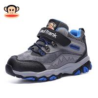 大嘴猴童鞋男童运动鞋冬季加绒保暖二棉鞋子男孩中大童儿童登山鞋