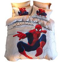 【家装节 夏季狂欢】儿童四件套纯棉男孩全棉床单被套床笠蜘蛛侠床上用品三