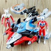 奥特曼飞机可合体玩具银河火花胜利神鹰号舰队三合一 飞机模型