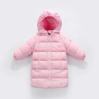 秋新款儿童装婴幼宝宝羽绒服中长款加厚衣服男女童小孩保暖外套