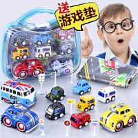 合金回力小汽车惯性工程火车耐摔迷你宝宝儿童玩具男孩2-3-4-5岁