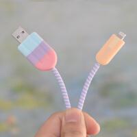 数据线保护套苹果充电器保护绳手机保护线iphone耳机绕线器防断裂
