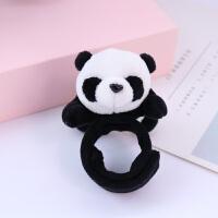 四川旅游礼品可爱熊猫创意手环趴趴圈儿童毛绒玩具装饰小礼物 趴趴圈 熊猫身长10cm