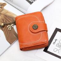 零钱包女式钥匙包短款拉链硬币包小卡包学生大容量多卡位