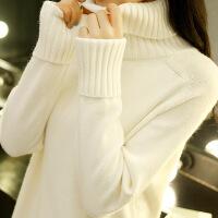 高领毛衣女秋装新款2018韩版宽松套头学生长袖针织打底衫秋冬百搭