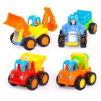 汇乐玩具326快乐工程车儿童小汽车惯性滑行玩具车男孩益智套装2岁