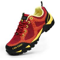 夏季透气登山鞋男鞋网面轻便户外鞋防水徒步鞋女鞋防滑运动鞋