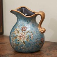 欧式绢布贵妃玫瑰仿真花假花花艺餐桌摆花陶瓷花瓶摆件摆设花