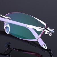 201808272225076432018 新款韩国风近视眼镜女配无框眼镜架变色老花平光防护目辐射眼镜超轻性感潮流