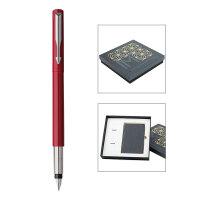 PARKER 派克威雅红色胶杆墨水笔/星梦奇缘笔记本礼盒
