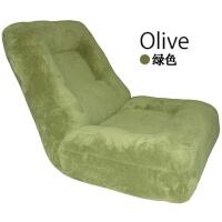 20190403010832013日式床上懒人沙发榻榻米阅读舒适卧室小沙发柔软无腿靠背飘窗座椅 绿色 珊瑚绒