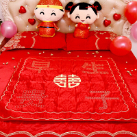 百福被结婚坐喜福垫韩国薄被喜被 宝宝抱被结婚床上用品