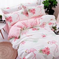 床上用品四件套1.8m床单简约卡通2.0双人1.5米被套女生三件套