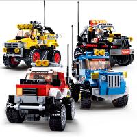 积木拼装玩具益智汽车模型7男童6-8岁5男孩10生日礼物
