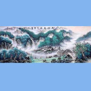 中国青年美术家协会常务理事,中国扇子艺术学会会员,中国山水画院专业画家,国家一级美术师高云鹏(雨润春山千里翠)