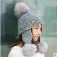 卷边毛线帽子女潮保暖护耳韩国简约英伦百搭甜美可爱韩版学生