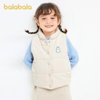 【3件4折:87.6】巴拉巴拉童�b女童棉�R甲�和�背心秋冬2020新款�����粜窘q加厚保暖