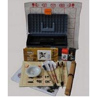 国画颜料工具17件套装颜料画笔 笔墨纸砚俱全 书法毛笔练习须备文房四宝。