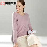秋冬新款女士V领纯山羊绒衫修身百搭短款时尚套头毛衣针织打底衫