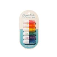 蓝果彩虹胶囊套装荧光笔LG-41164 颜色图案随机 单套销售(6色) 当当自营