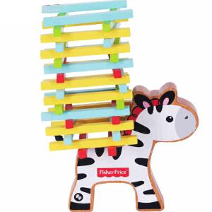 【当当自营】【当当自营】FisherPrice费雪牌木质斑马平衡游戏玩具 3岁儿童宝宝早教益智FP1016