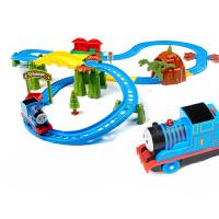 语音托马斯小火车套装轨道车电动火车 和谐号小火车拼装儿童玩具男孩玩具汽车赛车