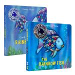 彩虹鱼系列纸板书2册 英文原版The Rainbow Fish晚安小彩虹鱼 凯特格林纳威奖图画书