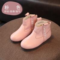 女童靴子 儿童秋冬真皮宝宝软底宝宝靴 女童短靴黑色儿童皮靴童鞋