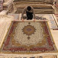 别墅地毯欧美式门厅书房卧室手工地毯客厅沙发地毯 巧克力色 183x274cm