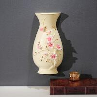 墙壁装饰挂件墙上创意中式客厅餐厅玄关卧室楼梯背景墙面花瓶挂盘 梅花挂墙花瓶单个 无带仿真花